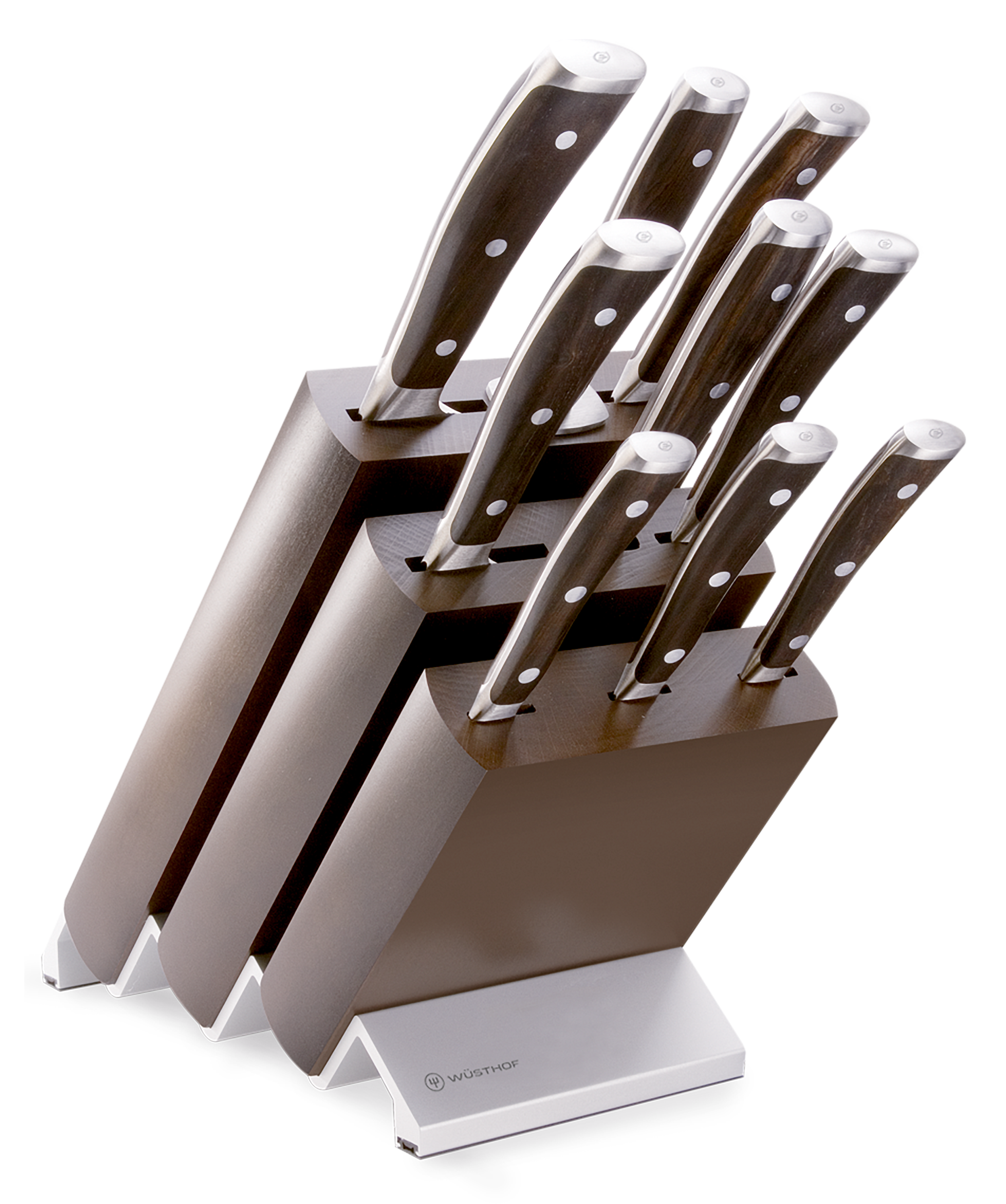 Knife block with 9 pcs.
