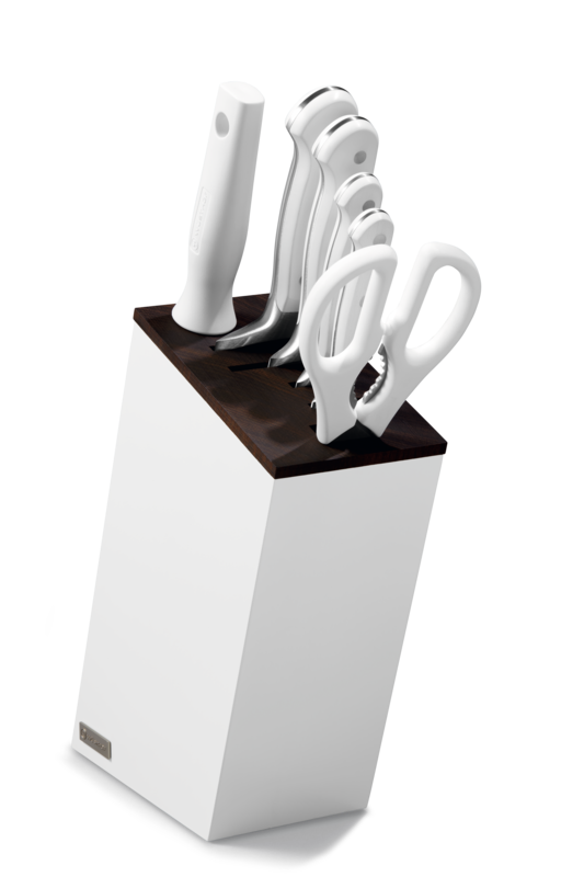 Knife block with 6 items