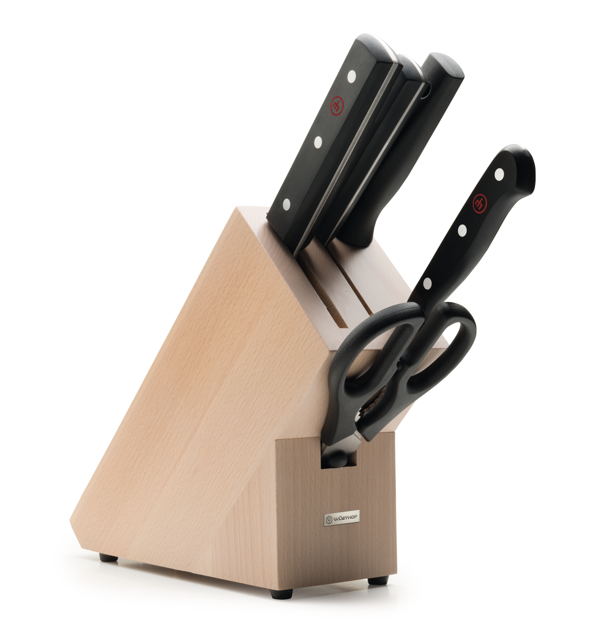 Knife block with 5 pcs.